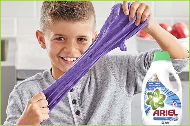 Haz Slime Con Detergente Y Sin Bórax Slime De Colores